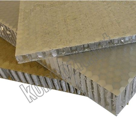 Aluminyum Honeycomb Balpeteği Panel C:6mm D:56kg/m3 T:15mm 150cm x 300cm (FRP yuzey)