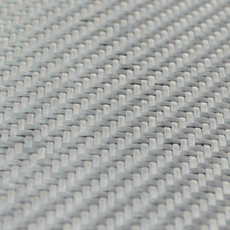 Dekoratif Cam Fiber Kumaş 290 gr/m2 twill Gümüş - Thumbnail
