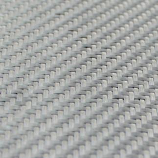 Dekoratif Cam Fiber Kumaş 290 gr/m2 twill Gümüş-1M2 - Thumbnail