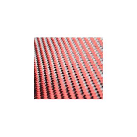 Dekoratif Karbon Fiber Kumaş Kırmızı/Siyah 210gr/m2 twill-5M2