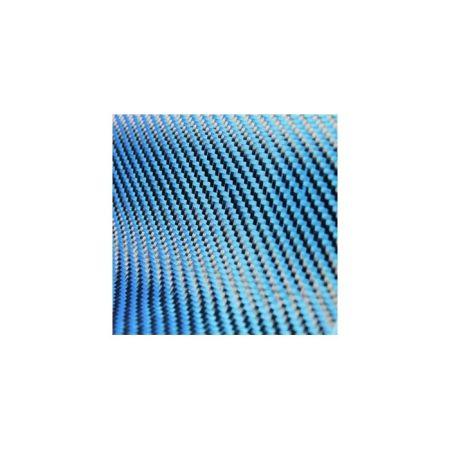 Dekoratif Karbon Fiber Kumaş Mavi/Siyah 210gr/m2 twill-1M2